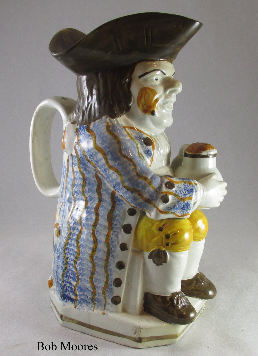 Good Prattware Toby jug c.1790 ex Captain Price collection