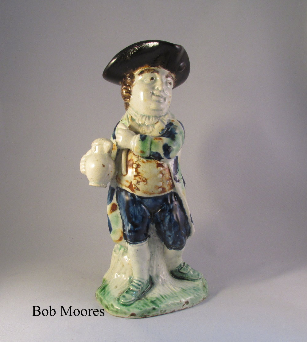 Rare mid sized Hearty Good Fellow Toby jug c1780