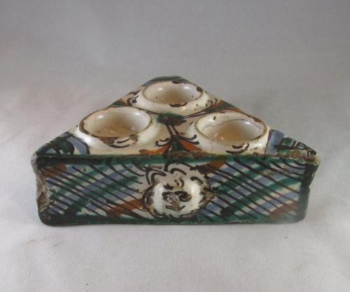 18th century Spanish faience salt or spice dish