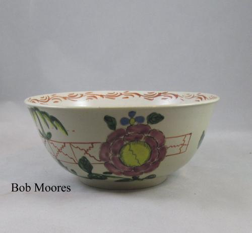 "White Saltglazed slop bowl c1760    6 1/2"" wide"