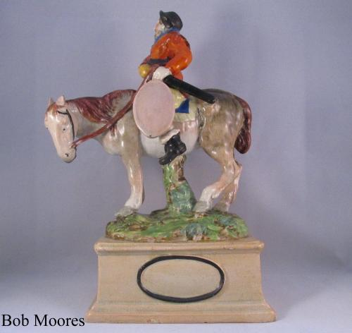 "Good figure of Samuel Butler's Sir Hudibras ""the knight Errant"" Staffordshire c1810"