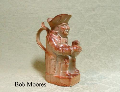 Small Brampton saltglazed KIng George 111 Toby jug c.1840