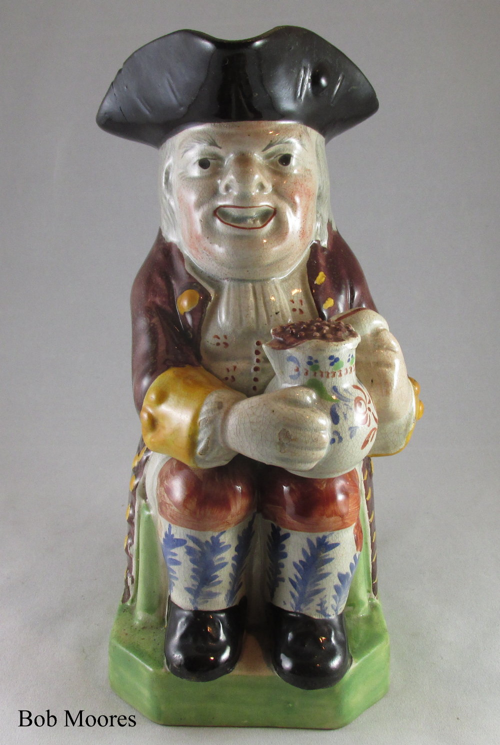 An interesting Staffordshire Toby jug c.1810-20  - J Bournell, London