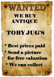 Very best prices paid for early English Toby jugs