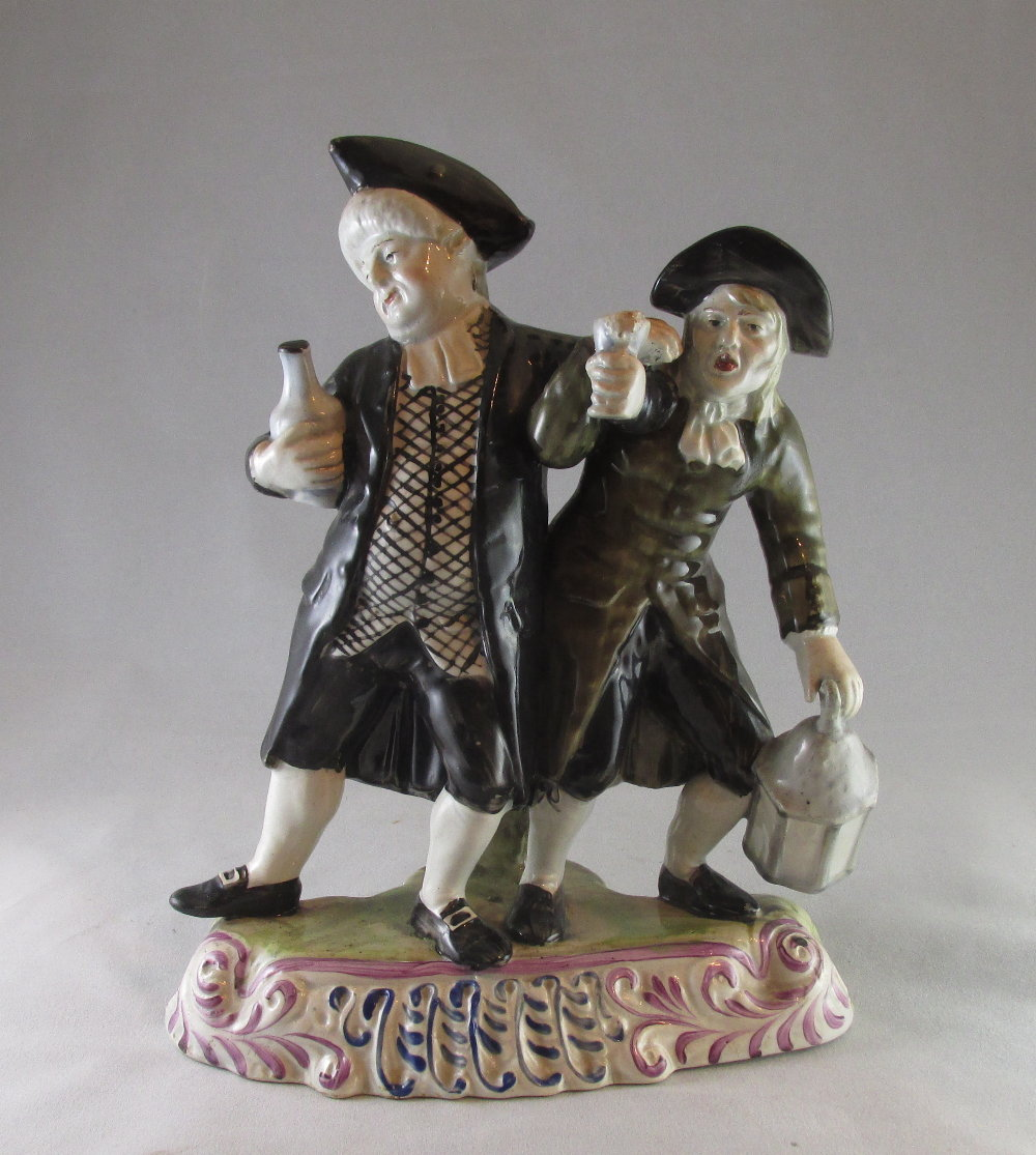Good Vicar and Moses group Staffordshire c1820
