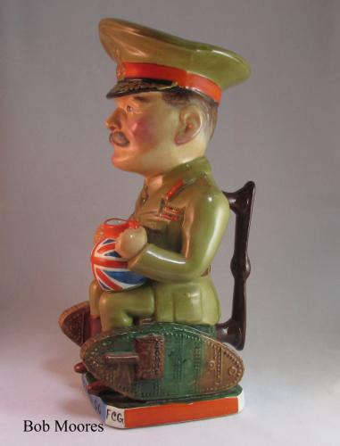 Wilkinson's, Carruthers Gould Field Marshal Douglas Haig Toby jug c.1917