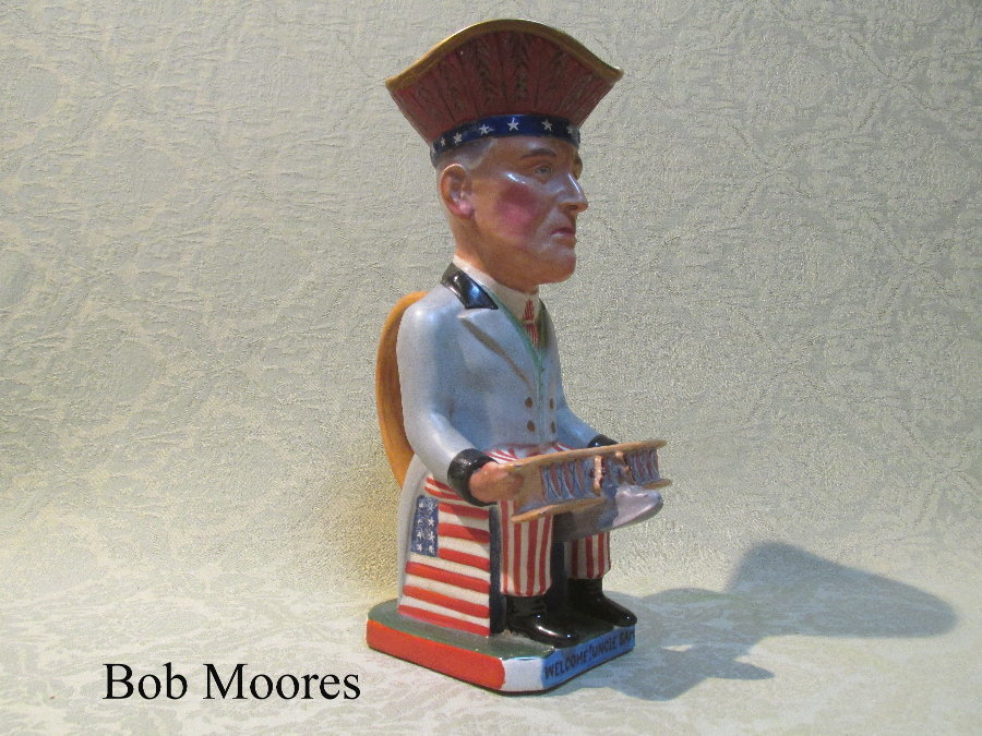 Wilkinson, Carruthers Gould President Woodrow Wilson Toby jug Staffordshire c.1917