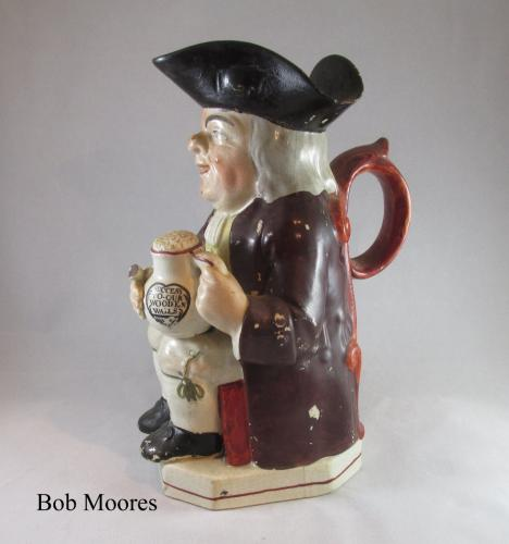 "Of Naval Interest - c1800 Staffordshire Toby jug - ""Success to our Wooden Walls"""
